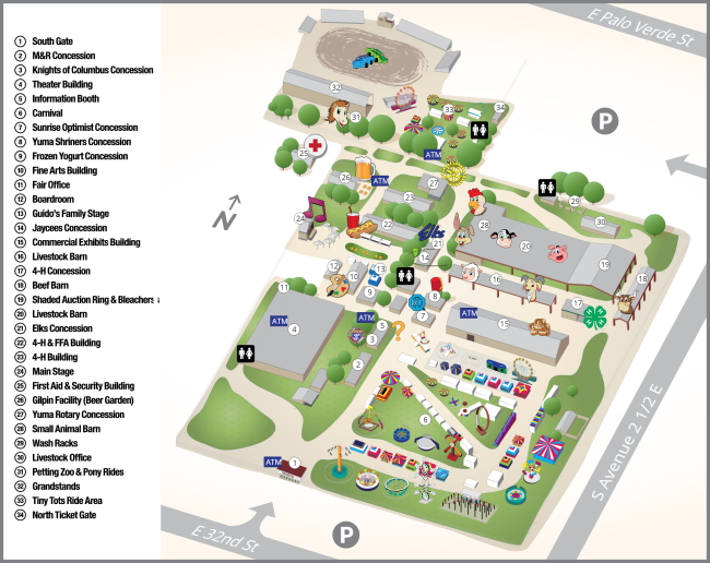 Yuma County Fair Map 2019